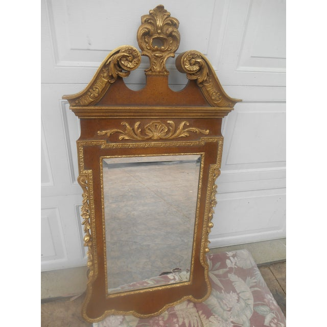 Georgian Friedman Brothers Mahogany & Gold Georgian Mirror For Sale - Image 3 of 8