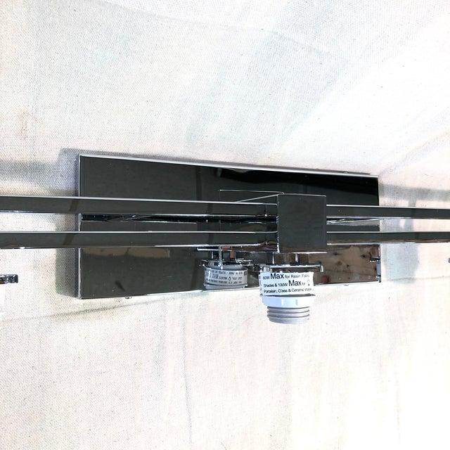 Justice Design 3-Light Polished Chrome Vanity Light For Sale In Washington DC - Image 6 of 12