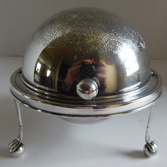 Mid-Century Silverplate Cigarette Globe - Made in England For Sale - Image 9 of 10