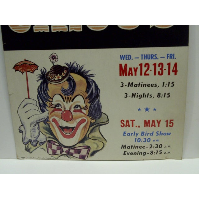 Circa 1960 Syria Temple Shrine 3-Ring Indoor Circus Poster For Sale - Image 5 of 5