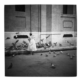 'Pigeon Lady' Toy Camera Photograph