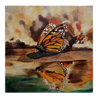 Monarch Butterfly Oil Painting by Brenda Lee Grinnell