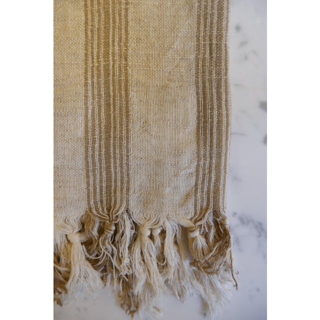 Turkish Hand Made Towel With Natural/Organic Cotton and Fast Drying,37x73 Inches For Sale - Image 4 of 11