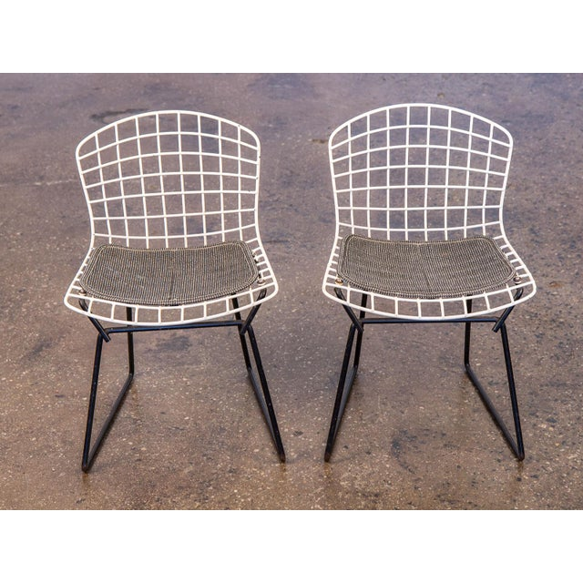 Mid-Century Modern Baby Bertoia Chairs - a pair For Sale - Image 3 of 9