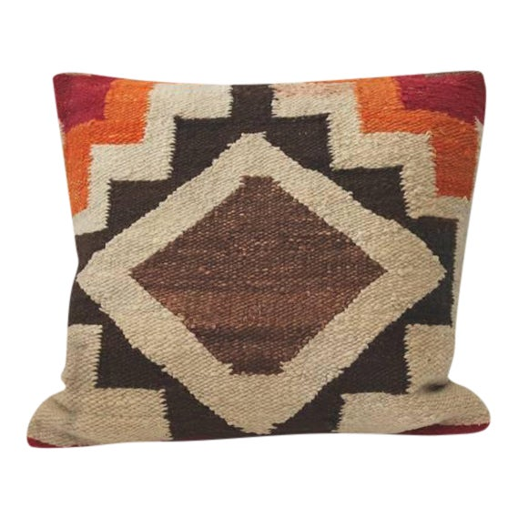 Pair of Early Navajo Indian Weaving Pillows For Sale