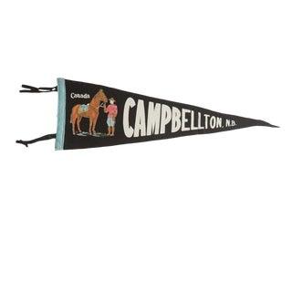 Vintage Campbellton, n.b. Felt Flag Pennant For Sale