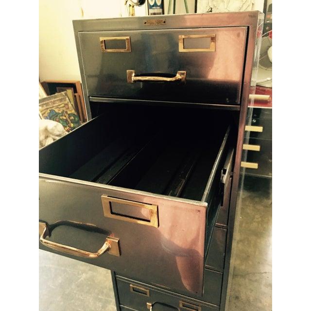 Vintage Polished Modern Metal Steelcase 8-Drawer File Cabinet - Image 8 of 8