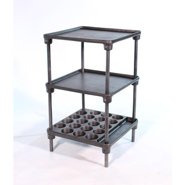 "Cast Iron ""Muffin"" Side Table For Sale - Image 9 of 13"
