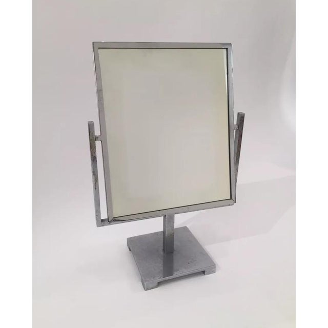 Vintage Art Deco Double Sided Chrome Vanity Mirror - Image 7 of 7