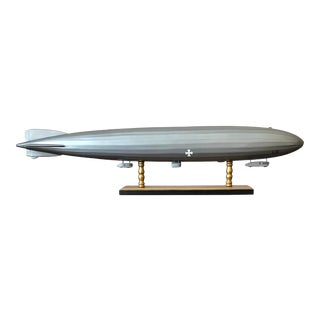 1960s Zeppelin L31 Solid Wood Model Airship, Blimp or Dirigible For Sale