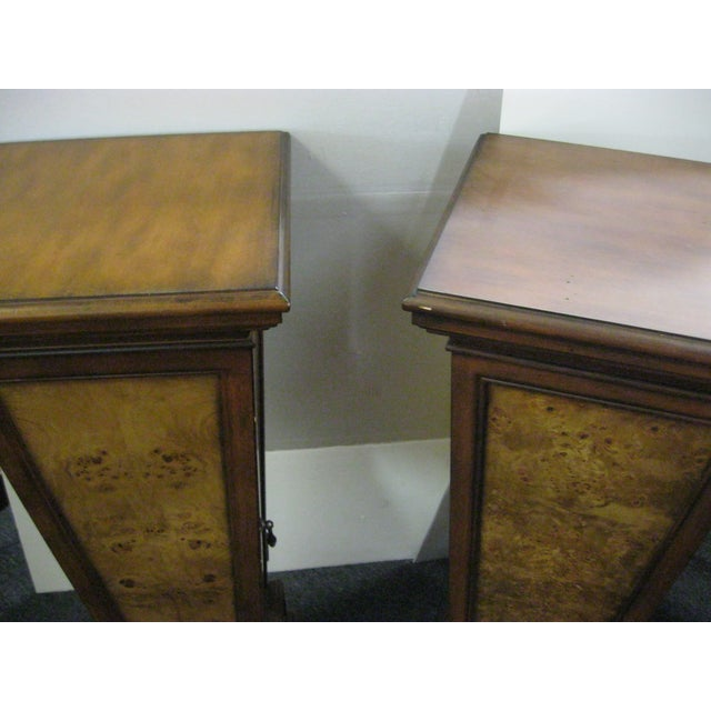 Brown Pedestal Storage Cabinets- A Pair - Image 8 of 10