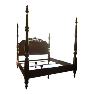 Tommy Bahama Rumba Del Sol Four Poster Bed For Sale