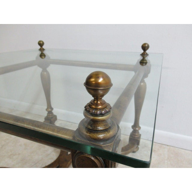 Vintage French Regency Faux Painted Tortoise Shell Lamp End Table For Sale In Philadelphia - Image 6 of 11