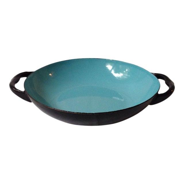 Blue & Black Enameled Bowl For Sale