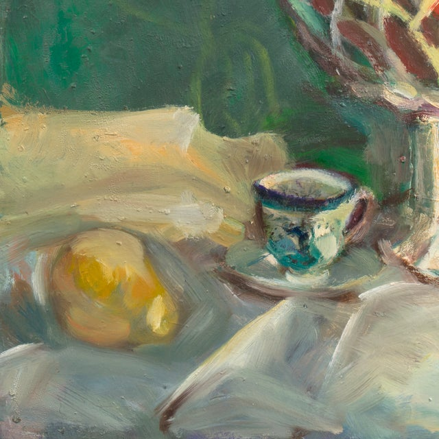 Oil Still Life With Porcelain Teacup - Image 3 of 5