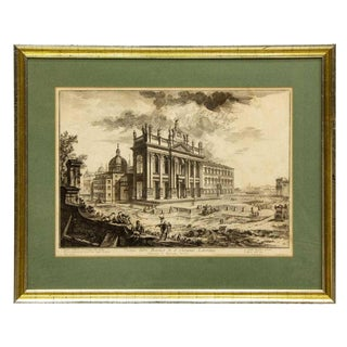 Basilica St John Lateran Etching by Piranesi (D.1778) For Sale