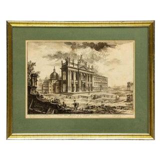 Views of Rome, Basilica St John Lateran Etching by Piranesi (D.1778) For Sale