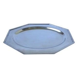 Silverplate Hammered Octagonal Server Tray