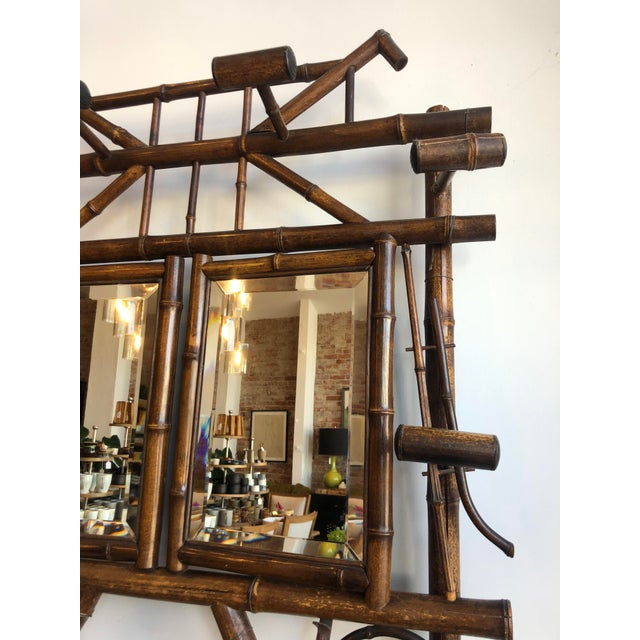 Antique English Bamboo Hall Stand For Sale - Image 4 of 11
