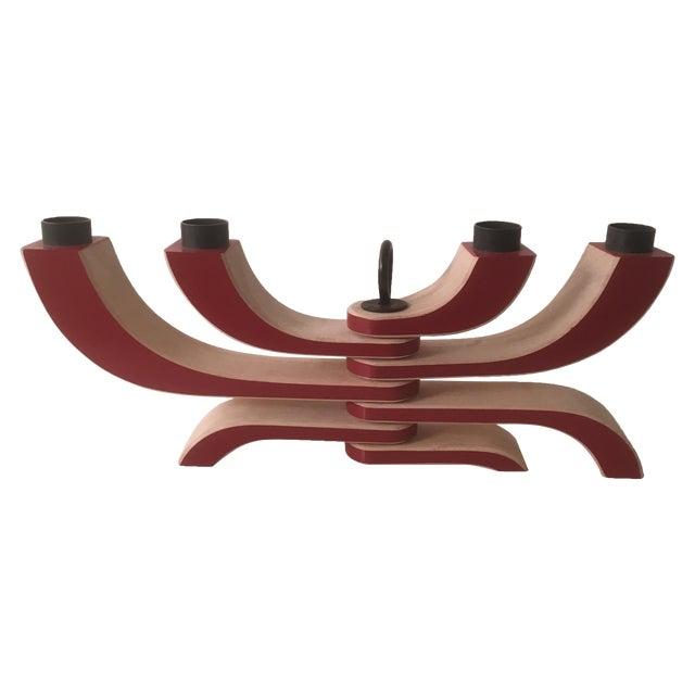 Design House Stockholm Red 4-Arm Candleholder - Image 1 of 6