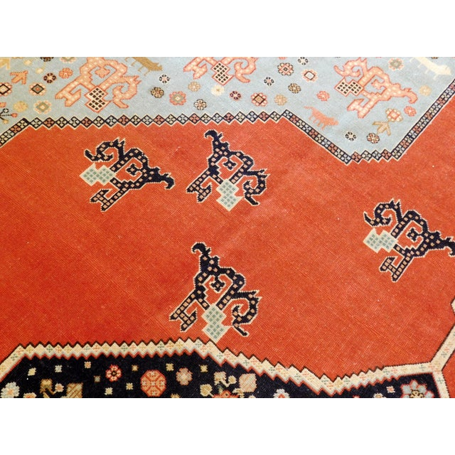 """Textile Hand-Knotted Turkish Serapi Rug - 8'7""""x 12' For Sale - Image 7 of 12"""
