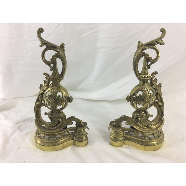 19th Century French Napoleon III Bronze Andirons - a Pair For Sale - Image 10 of 10
