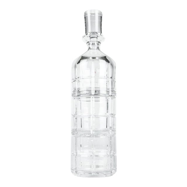 Cut Crystal Three Pieces Drinks Decanter For Sale