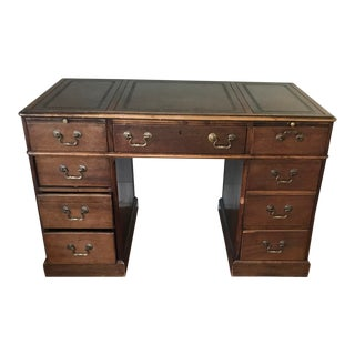 Early 20th Century Antique Leather Top Desk For Sale