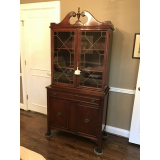 MId Century Modern Mahogany Hutch (Bookshelf, China Cabinet ) With Glass Doors Preview