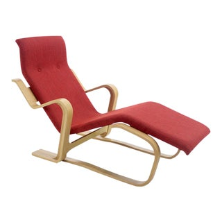 Iconic Marcel Breuer Bentwood Lounge Chair For Sale