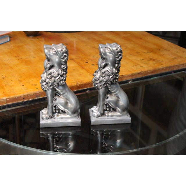 Vintage Lion Bookends - Pair - Image 4 of 4
