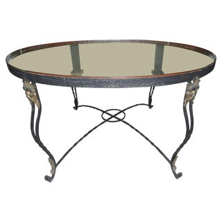 19th Century French Iron and Copper Table For Sale