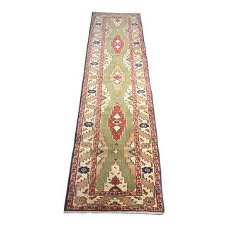1970s Vintage Turkish Oushak Wool Runner Rug - 2′6″ × 9′2″ For Sale
