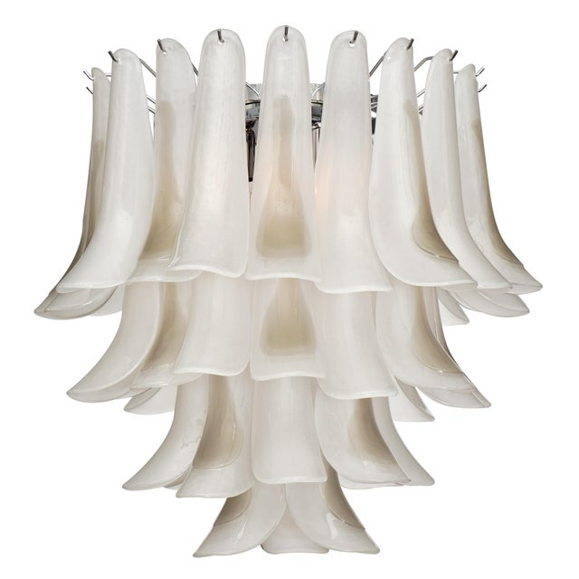 "Murano Glass ""Selle"" Chandelier For Sale - Image 10 of 10"