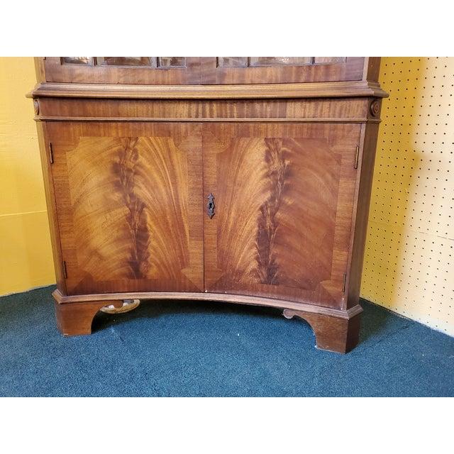 Vintage Mahogany Corner Cabinet For Sale - Image 11 of 13