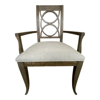 Thomasville Furniture Anthony Baratta Taupe Oak Dining Arm Chair For Sale