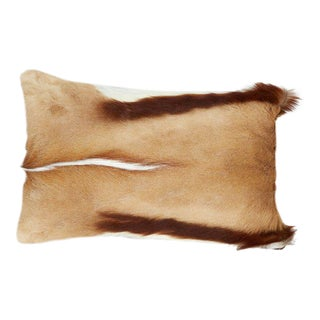 Luxury Throw Pillow in Exotic African Springbok and Suede For Sale