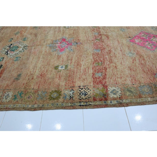 1970s 1970s Vintage Moroccan Boujad Rug- 6′8″ × 13′7″ For Sale - Image 5 of 6