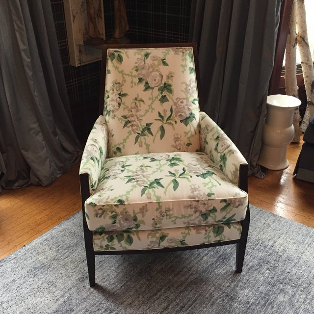 Exposed wood Joe Ruggerio (for the MT Company) club chair recently used for the Junior League of Boston's Annual Showhouse...
