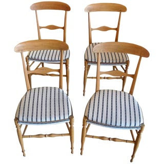 French 19th Century Stained Fruitwood Dining Chairs- Set of 4 For Sale