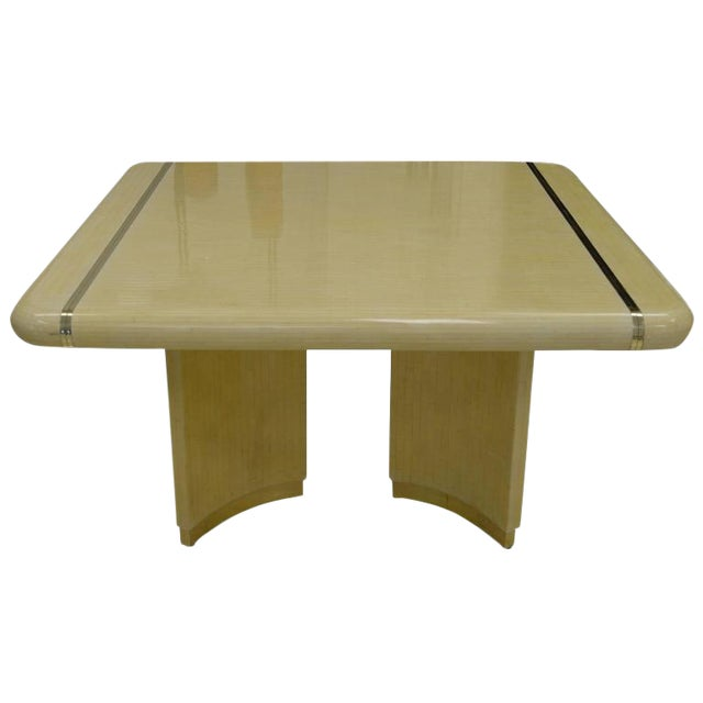 1970s Mid-Century Modern Enrique Garcel Off-White Bone Dining Table For Sale