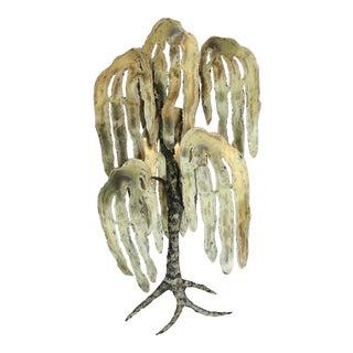 1970s Torch-Cut Brutalist Brass Tree Sculpture
