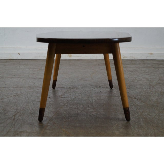Mid Century Swedish Modern Oval Walnut Coffee Table For Sale - Image 5 of 10