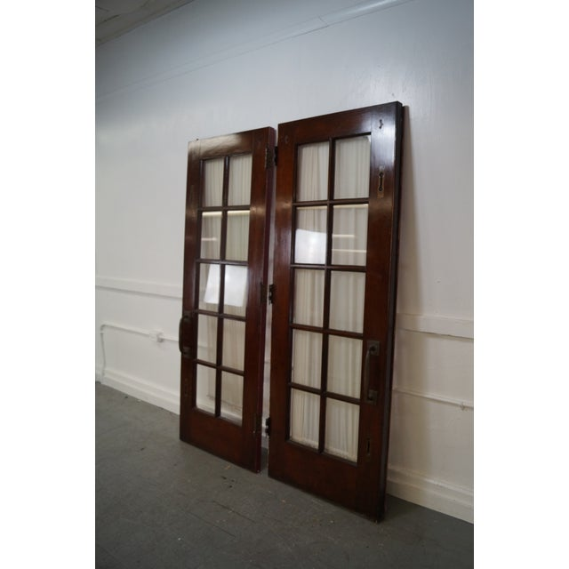 Vintage Mahogany Double French Doors A Pair Chairish