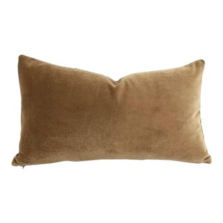 Brown Velvet Lumbar Pillow Cover For Sale