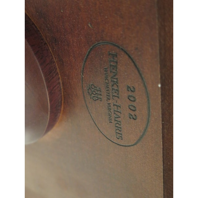 Queen Anne Henkel Harris Banded Mahogany Dining Room Table For Sale - Image 11 of 12