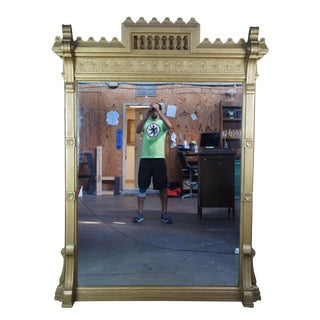 Antique Victorian Eastlake Pier Hall Mirror For Sale