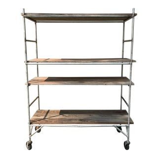 Rustic Industrial Shelf Unit on Casters