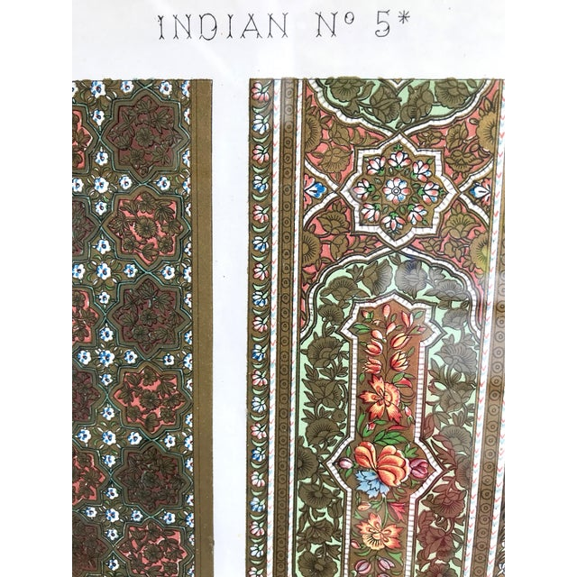 Mid 19th Century Antique Indian Glass Framed Print For Sale - Image 4 of 7