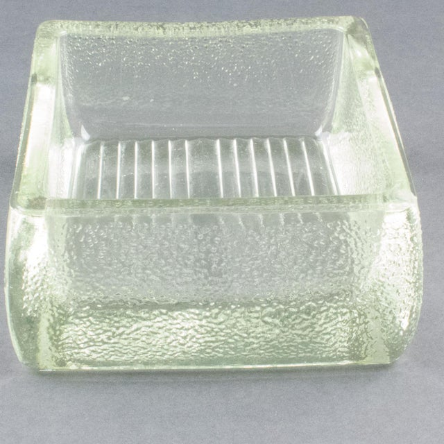Le Corbusier for Lumax Molded Glass Catchall Ashtray For Sale - Image 10 of 13